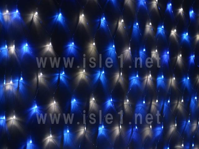 新型 LEDネットライト224球(青白MIX)