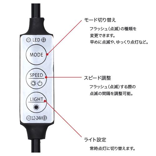 テープライト5m単色専用 点滅&調光器