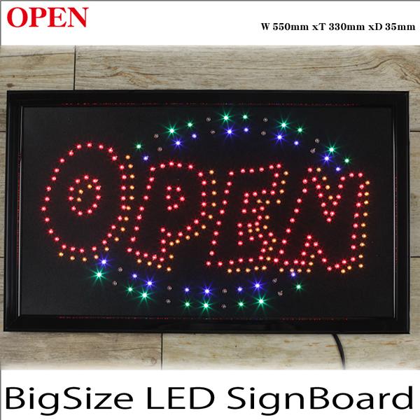 売切れ 高彩度LED電飾看板 「OPEN」ビッグサイズ